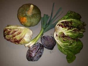 Gemüsetasche und Beipackzettel KW 45
