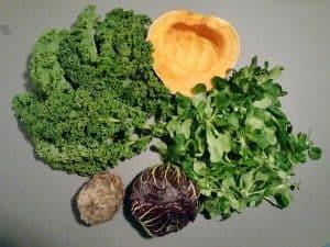 Gemüsetasche und Beipackzettel KW 47