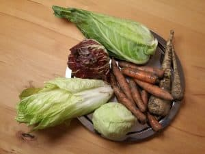Gemüsetasche und Beipackzettel KW 48